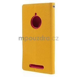 Kožené peňaženkové puzdro na Nokia Lumia 830 - žlté - 6