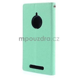 Kožené peňaženkové puzdro na Nokia Lumia 830 - azurové - 6