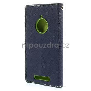 Kožené peňaženkové puzdro na Nokia Lumia 830 - tmavě modré - 6