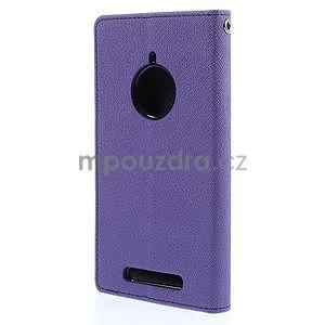 Kožené peňaženkové puzdro na Nokia Lumia 830 - fialové - 6