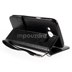 Peněženkové pouzdro s kočičkou Domi na Samsung Galaxy J5 - černé - 6