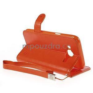 Peňaženkové puzdro s kočičkou Domi pre Samsung Galaxy J5 - oranžové - 6