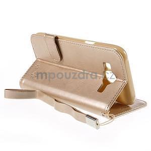 Peňaženkové puzdro s kočičkou Domi pre Samsung Galaxy J5 - champagne - 6