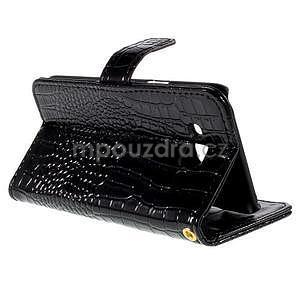 PU kožené pouzdro s imitací krokodýlí kůže Samsung Galaxy J5 - černé - 6