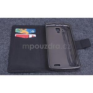 Koženkové puzdro pre mobil Lenovo A536 - čierne - 6