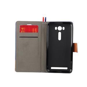 Jeans puzdro na mobil Asus Zenfone 2 Laser - tmavomodré - 6