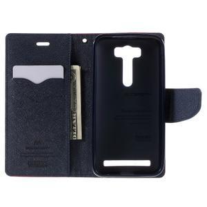 Diary štýlové puzdro na Asus Zenfone 2 Laser - rose - 6