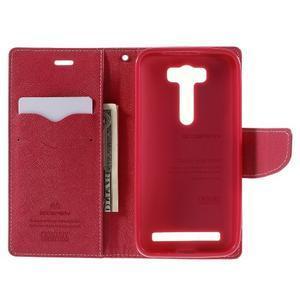 Diary štýlové puzdro na Asus Zenfone 2 Laser - ružové - 6