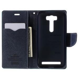 Diary štýlové puzdro na Asus Zenfone 2 Laser - azurové - 6