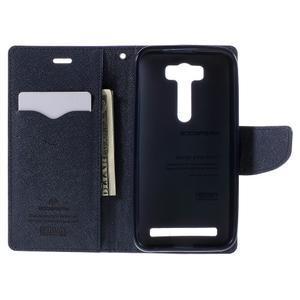 Diary štýlové puzdro na Asus Zenfone 2 Laser - fialové - 6
