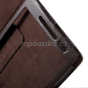 Safety polohovateľné puzdro pre tablet Asus ZenPad 8.0 Z380C - hnedé - 6