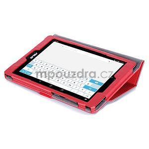 Polohovatelné koženkové puzdro pre tablet Asus ZenPad S 8.0 -  červené - 6
