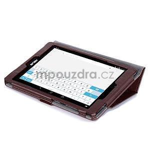 Polohovatelné koženkové puzdro pre tablet Asus ZenPad S 8.0 -  hnedé - 6