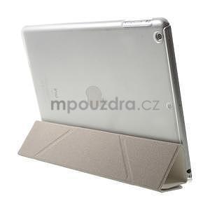 Origami ochranné puzdro pre Apple iPad Air - biele - 6