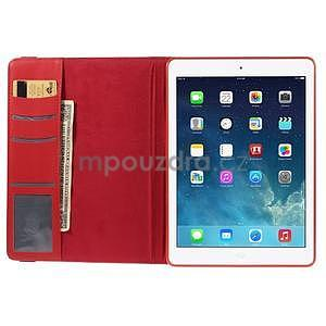 Circ otočné puzdro na Apple iPad Air - červené - 6