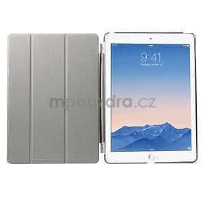 Trifold polohovateľné puzdro na iPad Air 2 - čierne - 6