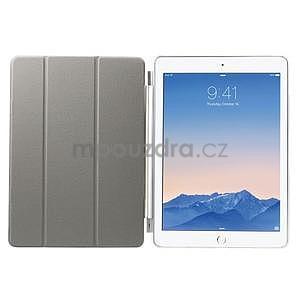Trifold polohovateľné puzdro na iPad Air 2 - biele - 6