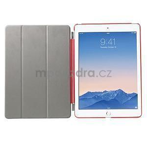 Trifold polohovateľné puzdro pre iPad Air 2 - červené - 6