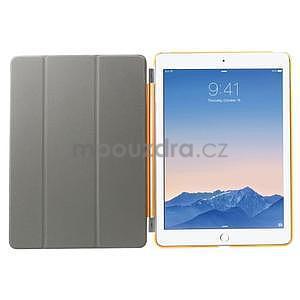 Trifold polohovateľné puzdro pre iPad Air 2 - oranžové - 6