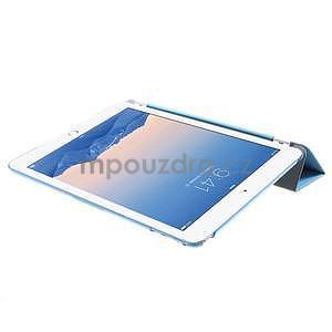 Trifold polohovateľné puzdro pre iPad Air 2 - modré - 6