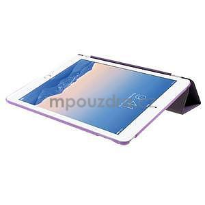 Trifold polohovateľné puzdro na iPad Air 2 - fialové - 6
