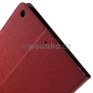 Diary peňaženkové puzdro na iPad Air - červené - 6