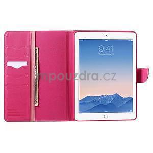 Diary peňaženkové puzdro pre iPad Air - ružové - 6