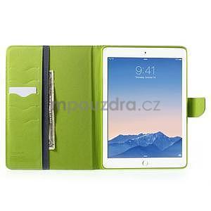 Diary peňaženkové puzdro na iPad Air - tmavomodré - 6