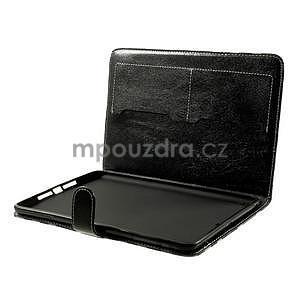 Kockované puzdro na Apple iPad Mini 3, iPad Mini 2 a iPad Mini - čierne - 6