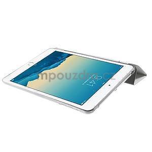 Classic troj polohové puzdro pre iPad Mini 3, ipad Mini 2 a na iPad Mini -  biele - 6