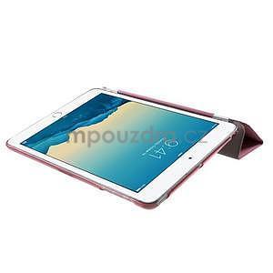 Classic troj polohové puzdro pre iPad Mini 3, ipad Mini 2 a na iPad Mini -  ružové - 6