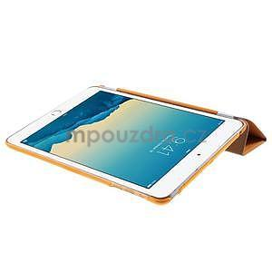 Classic troj polohové puzdro pre iPad Mini 3, ipad Mini 2 a na iPad Mini -  oranžová - 6
