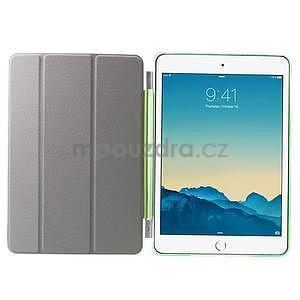 Classic troj polohové puzdro pre iPad Mini 3, ipad Mini 2 a na iPad Mini -  zelené - 6