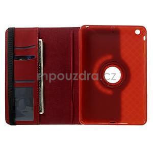 Circu otočné puzdro na Apple iPad Mini 3, iPad Mini 2 a ipad Mini - červené - 6