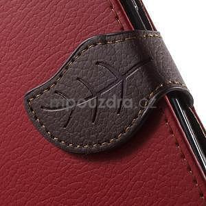 Supreme peňaženkové puzdro na Lenovo P70 - červené/hnedé - 6