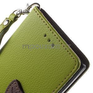 Supreme peňaženkové puzdro na Lenovo P70 - zelené/hnedé - 6