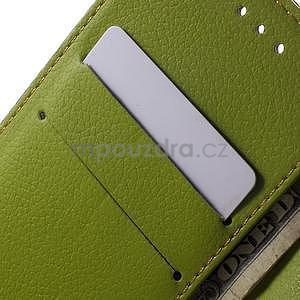 Supreme peňaženkové puzdro pre Lenovo P70 - hnedé/zelené - 6