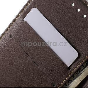 Supreme peňaženkové puzdro pre Lenovo P70 - čierné/hnedé - 6