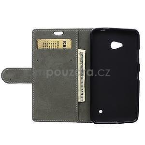 Ochranné peňaženkové puzdro Microsoft Lumia 640 - modré - 6
