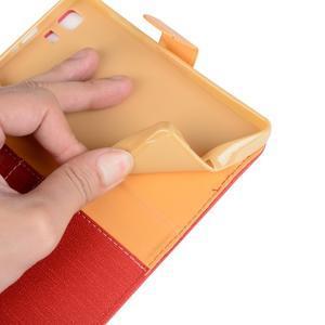 Clothy PU kožené pouzdro na mobil Doogee X5 - červené - 6