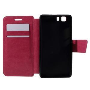 Peňaženkové PU kožené puzdro pre mobil Doogee X5 - rose - 6