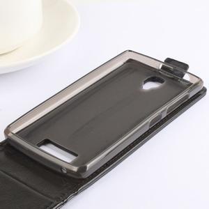 Flipové puzdro pre mobil Lenovo A2010 - hnedé - 6