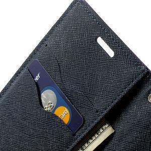 Diary PU kožené puzdro pre Samsung Galaxy S5 mini - fialové - 6