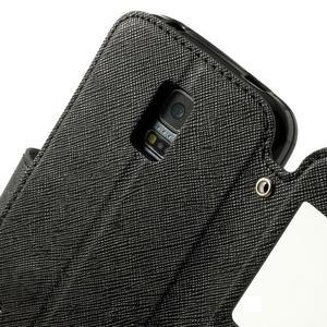Peňaženkové puzdro s okienkom pro Samsung Galaxy S5 mini -  čierne - 6