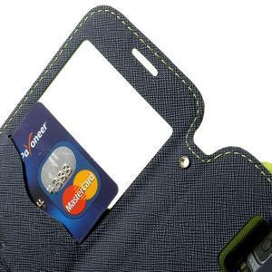 Peňaženkové puzdro s okienkom pro Samsung Galaxy S5 mini -  zelené - 6