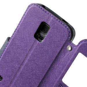 Peňaženkové puzdro s okienkom pro Samsung Galaxy S5 mini -  fialové - 6