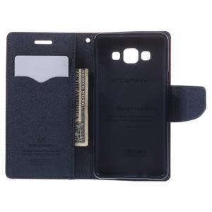 Mr. Fancy koženkové puzdro pre Samsung Galaxy A5 - červené - 6