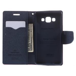 Mr. Fancy koženkové puzdro na Samsung Galaxy A5 - rose - 6