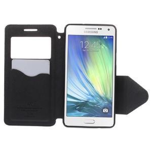 Štýlové puzdro s okienkom pre Samsung Galaxy A5 - čierné - 6