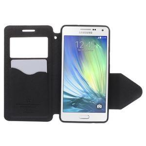 Stylové puzdro s okýnkem na Samsung Galaxy A5 - tmavo modré - 6